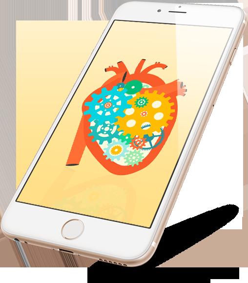 mobile heart